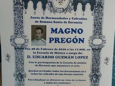 Eduardo Guzmán López pregonero de la Semana Santa 2016