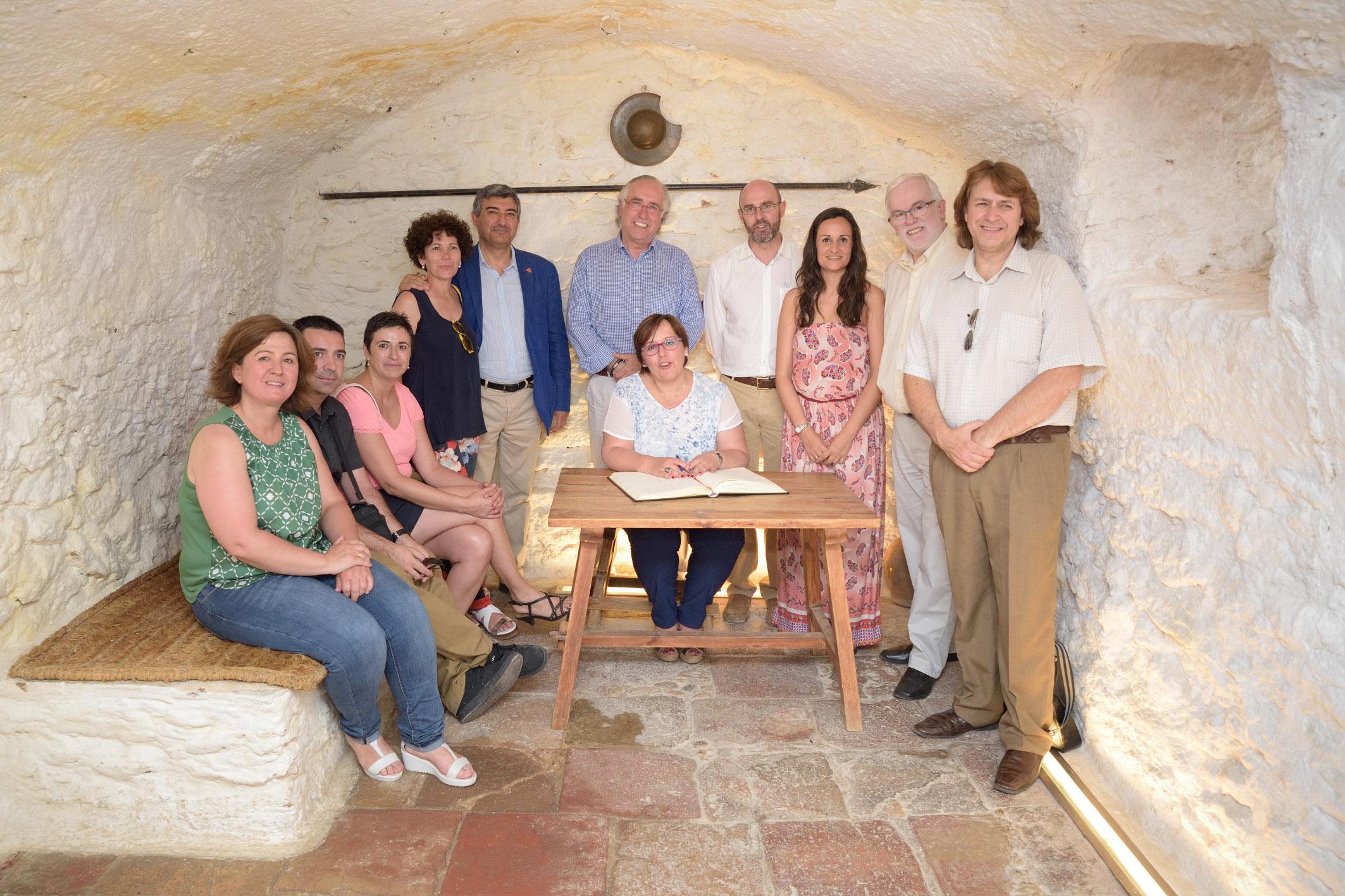 Olmedo celebra su primer aniversario como delegada visitando Argamasilla de Alba