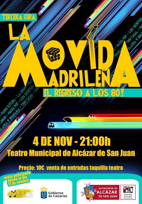 La comedia musical » La Movida madrileña, el regreso a los 80 » aterriza en Alcázar de San Juan