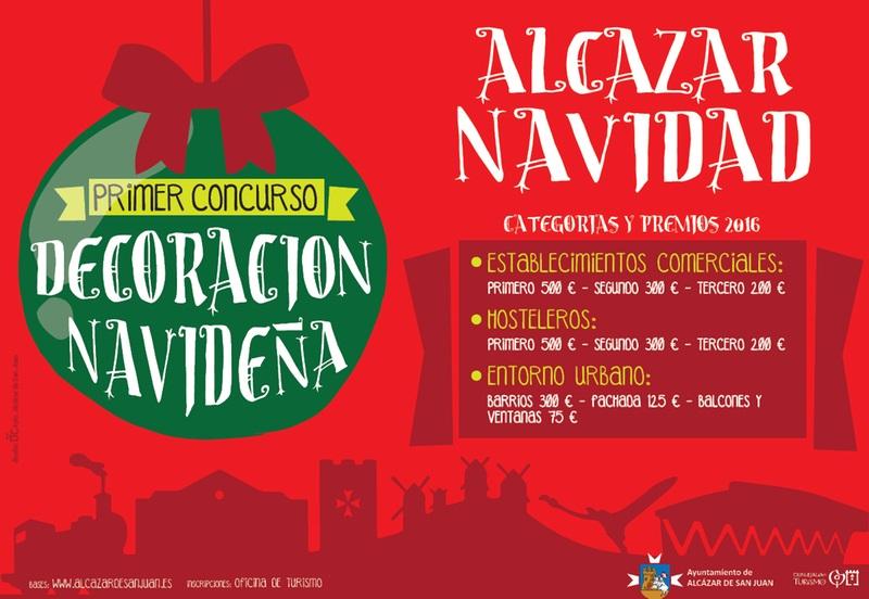El ayuntamiento de Alcázar de San Juan amplia el plazo para la inscripción en el concurso de Decoración Navideña de elementos urbanos y hosteleros