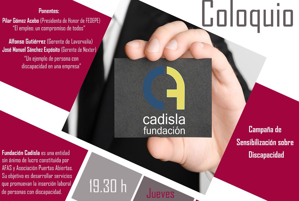 """CADISLA organiza en Tomelloso la charla-coloquio """"Implícate y triunfa: rutas hacía el empleo"""""""