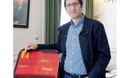 José Manuel Caballero, presidente de la Diputación y de FENAVIN
