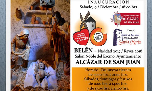 Inauguración del Belén Municipal de Alcázar, sábado 8 de diciembre a las 18 horas