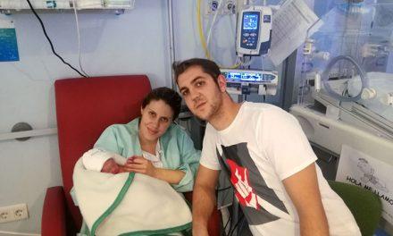 Sofía Vela Fernández es el primer bebé que nace en la provincia de Ciudad Real en el 2018