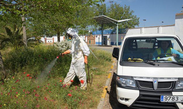 El Ayuntamiento está llevando a cabo diferentes medidas para la eliminación de las malas hierbas