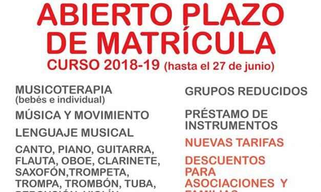 Abierto el plazo de matrícula para la Escuela Municipal de Música