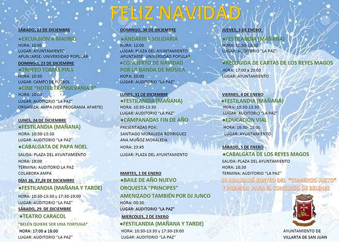Festilandia, novedad de la programación navideña en Villarta de San Juan, que comienza este fin de semana