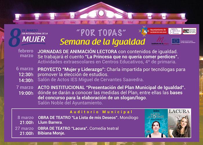 Semana de la Igualdad. Alcázar presenta el Plan Municipal de Igualdad