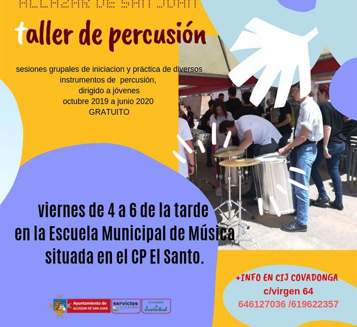 Taller de Percusión en la Escuela de Música para mayores de 12 años