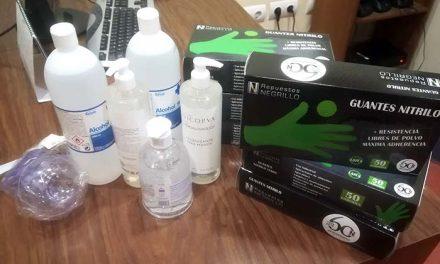 La Policía Local de Argamasilla de Alba recibe varias donaciones de material de protección contra el COVID-19