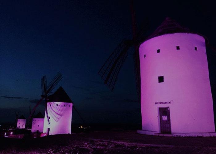El síndrome de Dravet iluminará de morado los molinos de viento y la fachada del ayuntamiento de Alcázar