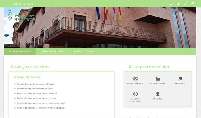 Aprobado el Plan para la publicación de trámites y servicios a través de la sede electrónica del Ayuntamiento de Herencia