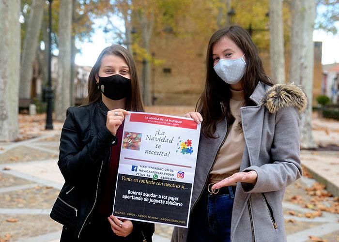 Dos jóvenes argamasilleras ponen en marcha la campaña 'Navidades para todxs'