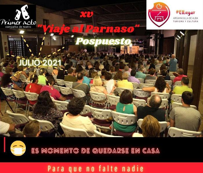 """Aplazado al mes de julio el Certamen Nacional de Teatro Aficionado """"Viaje al Parnaso"""" de Argamasilla de Alba"""