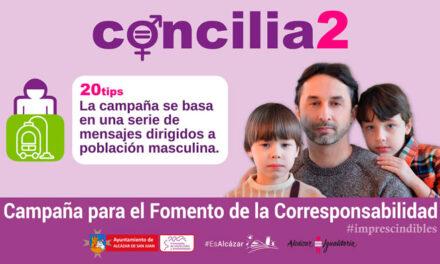 """Comienza la campaña """"Concilia2"""" en el marco de la Semana de la Igualdad de Alcázar"""