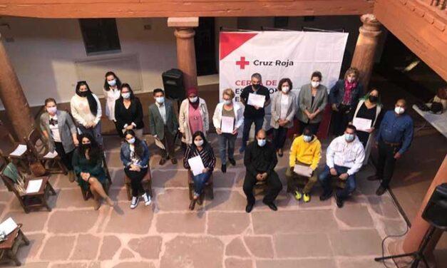 Cruz Roja Alcázar entrega los diplomas del Curso de Comercio y Almacén en el Museo del Hidalgo